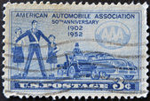 USA - CIRCA 1952: A stamp printed in the USA showing American Automobile Association, circa 1952 — Stock Photo