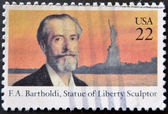 F.A.Bartholdi, Statue of Liberty Sculptor — Stock Photo