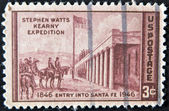 UNITED STATES - CIRCA 1946: stamp printed in USA, shows Capture of Santa Fe — Stock Photo