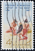 USA - CIRCA 1961: A stamp printed in the USA showing Frederic Remington, circa 1961 — Foto de Stock