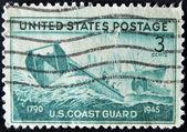 USA - CIRCA 1945: A stamp printed in the USA showing U.S. Coast Guard, circa 1945 — Stockfoto