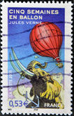 """Five Weeks in a Balloon"" a novel by Jules Verne — Stock Photo"