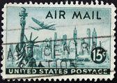New york e la statua della libertà — Foto Stock