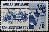Stamp commemorating 50th anniversary of women's suffrage — Stock Photo