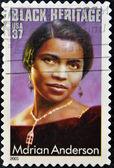 Marian Anderson African-American contralto singer — Stock Photo