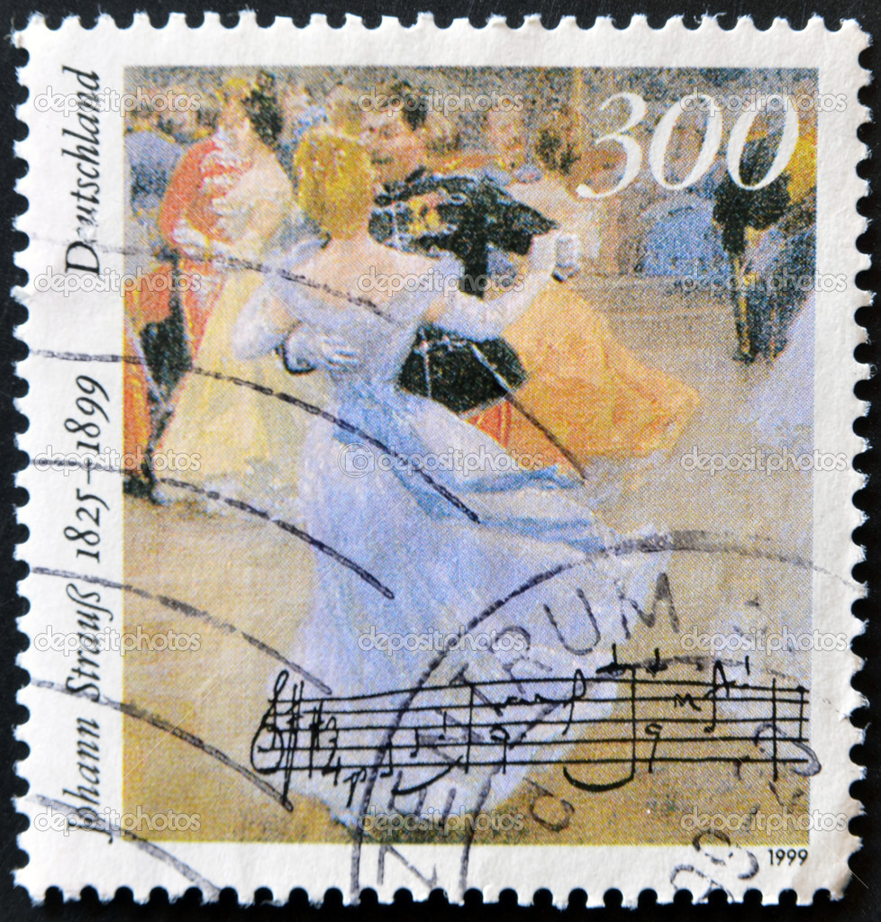 GERMANY- CIRCA 1999: stamp printed by Germany, shows Johann Strauss, circa 1999. — Stock Photo #9181003
