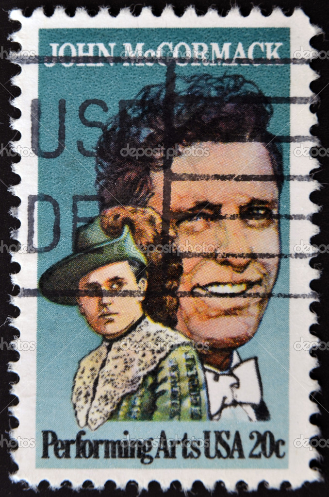 UNITED STATES OF AMERICA - CIRCA 1984: stamp printed by United states, shows John McCormack, circa 1984 — Stock Photo #9183585