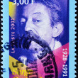 Постер, плакат: Stamp shows Serge Gainsbourg