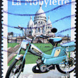 Stock Photo: Stamp shows moped