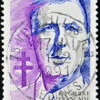 Stamp shows Charles de Gaulle — Stock Photo #9354124