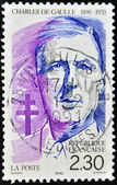 Stamp shows Charles de Gaulle — Stock Photo