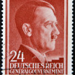 GERMANY - CIRCA 1943: A stamp printed by Third Reich shows Portrait of Adolf Hitler, circa 1943. — Stock Photo