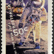 AUSTRALIA - CIRCA 2007: A stamp printed in Australia shows first moon walk 1969, circa 2007 — Foto Stock