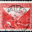 Bosnia and Hercegovina - CIRCA 1915: A stamp printed in Bosnia shows mountains, rivers and road, circa 1915 — Stock Photo #9443747