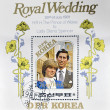 NORTH KOREA - CIRCA 1981: A stamp printed in DPR Korea dedicated to royal wedding of the prince of wales to Lady Diana Spencer, circa 1981 — Stock Photo
