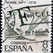 Stock Photo: SPAIN - CIRC1977: stamp printed in Spain dedicated to Tiziano, circ1977
