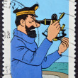 FRANCE - CIRCA 2007: A stamp printed in France shows the cartoon character, captain haddock, circa 2007 — Stock Photo