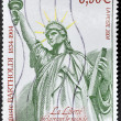 Stock Photo: FRANCE - CIRC2004: stamp printed in France dedicated to Bartholdi shows Statue of Liberty, circ2004
