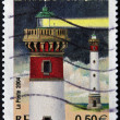FRANCE - CIRCA 2004: A stamp printed in France shows the flagship ouistreham in the night, circa 2004 — Stock Photo