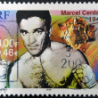 Stock Photo: FRANCE - CIRC2000: stamp printed in France shows Marcel Cerdan, circ2000