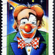 FRANCE - CIRCA 2008: A stamp printed in France shows a clown, the august, circa 2008 — Stock Photo #9444095