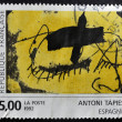 Stock Photo: FRANCE - CIRC1992: stamp printed in France shows abstract painting by Antoni Tapies, circ1992
