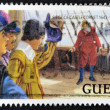 GUERNSEY - CIRCA 1999: A stamp printed in Guernsey dedicated to siege of castle cornet, circa 1999 — Stock Photo