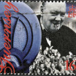 Постер, плакат: GUERNSEY CIRCA 1995 : stamp printed in Guernsey showing Winston Churchill circa 1995
