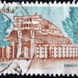 INDIA - CIRCA 1923: A stamp printed in India shows image of Sanchi Stupa, the famous Buddhist monuments,  circa 1923 — Stock Photo