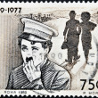 Stock Photo: ITALY - CIRCA 1989: Stamp printed by Italy celebrating 100 years from the birth of Charles Chaplin, circa 1989.