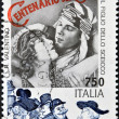 ITALY - CIRC1995: stamp printed in Italy shows Rudolph Valentino in film Son of Sheik, circ1995 — Stock Photo #9444281