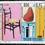 ITALY - CIRCA 2000: A stamp printed in Italy dedicated to Italian design, shows Gio Ponti, cats Pauline Teodoro, Massimo Morozzi and Tobia Scarpa, circa 2000 — Stock Photo #9444288