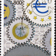 ITALY - CIRC1998: stamp printed in Italy shows currency and euro symbol, circ1998 — Stock Photo #9444291