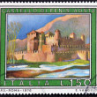 Stock Photo: ITALY - CIRC1976: stamp printed in Italy shows Fenis Castle, Aosta, circ1976