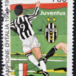 ITALY - CIRCA 1995: A stamp printed in Italy dedicated to Juventus of Turin, Italy champion, circa 1995 — Stock Photo