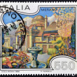 ITALY - CIRCA 1986: A stamp printed in Italy shows Merano, circa 1986 — Stock Photo