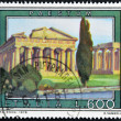 ITALY - CIRCA 1978: A stamp printed in Italy shows Paestum - Stockfoto
