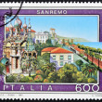 ITALY - CIRCA 1991: A stamp printed in Italy shows San Remo, circa 1991 — Stock Photo