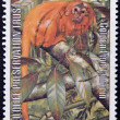JERSEY - CIRCA 1984: A stamp printed in Jersey shows golden lion tamarin, circa 1984 — Stock Photo