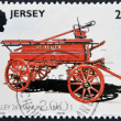 JERSEY - CIRCA 2001: A stamp printed in Jersey shows Tilley 26 manual c. 1845, circa 2001 - Stock Photo