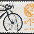 MEXICO - CIRCA 1975: A stamp printed in Mexico dedicated to export of bicycles from mexico, circa 1975 — Stock Photo