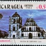NICARAGUA - CIRCA 1983: A stamp printed in Nicaragua shows the Iglesia de Subtiava in Leon, circa 1983. — Stock Photo #9444560