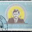 PANAMA - CIRCA 1966: A stamp printed in Panama shows image of John Fitzgerald Kennedy, was the 35th President of the USA, circa 1966. - Stock Photo