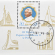 POLAND - CIRCA 1987: A stamp printed in Poland shows Pope John Paul, circa 1987 — Stock Photo