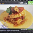 PORTUGAL - CIRCA 2005: A stamp printed in Portugal dedicated to the Madeira gastronomy shows a fillet of sword, circa 2005 — Stock Photo