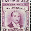 DOMINICAN REPUBLIC - CIRC1955: stamp printed in DominicRepublic shows President Trujillo, circ1955 — Stock Photo #9444660