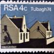 REPUBLIC OF SOUTH AFRICA - CIRCA 1974: A stamp printed in Republic of South Africa shows image of Tulbagh 74, circa 1974 — Stock Photo