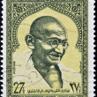 Stock Photo: SYRIAN ARAB REPUBLIC - CIRC1969: stamp printed in Syrishows MahatmGandhi, circ1969