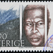 SWEDEN - CIRCA 1986: A stamp printed in Sweden dedicated to Nobel Peace, shows Albert Lutheli, circa 1986 - Stock Photo