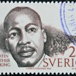 SWEDEN - CIRCA 1986: A stamp printed in Sweden dedicated to Nobel Peace, shows Martin Luther King, circa 1986 — Stock Photo #9444731